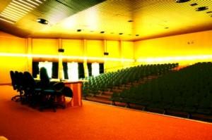L'aula magna, capace di circa 350 posti