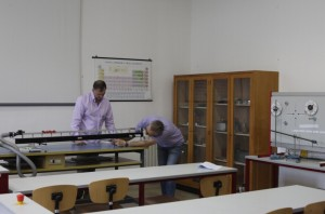Uno scorcio del laboratorio di fisica